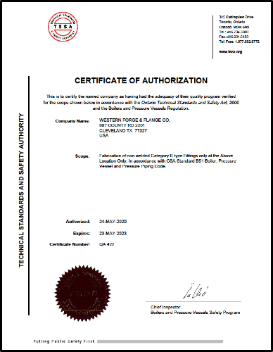 Certificate of Authorization Nuclear